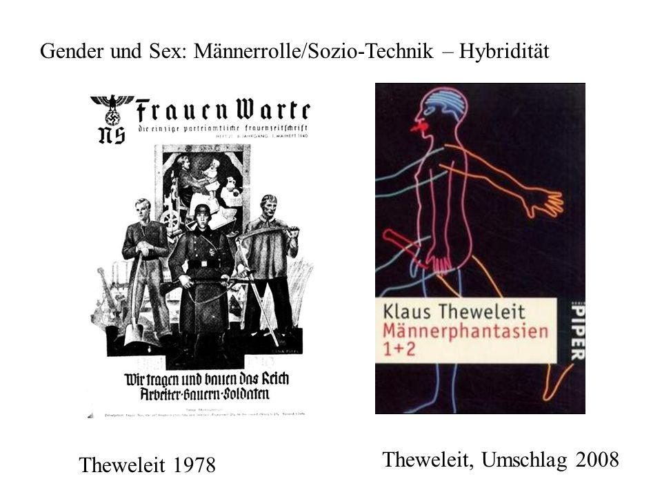 Gender und Sex: Männerrolle/Sozio-Technik – Hybridität Theweleit 1978 Theweleit, Umschlag 2008