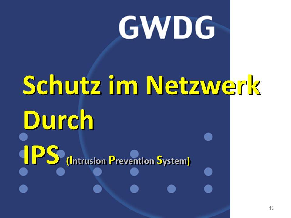 41 CISCO S YSTEMS CISCOYSTEMS S CISCOSYSTEMS UPPER POWER LOWER POWER NORMAL Schutz im Netzwerk Durch IPS ( I ntrusion P revention S ystem) Schutz im N