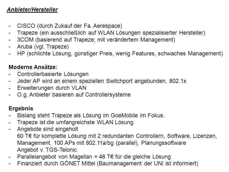 Anbieter/Hersteller -CISCO (durch Zukauf der Fa.