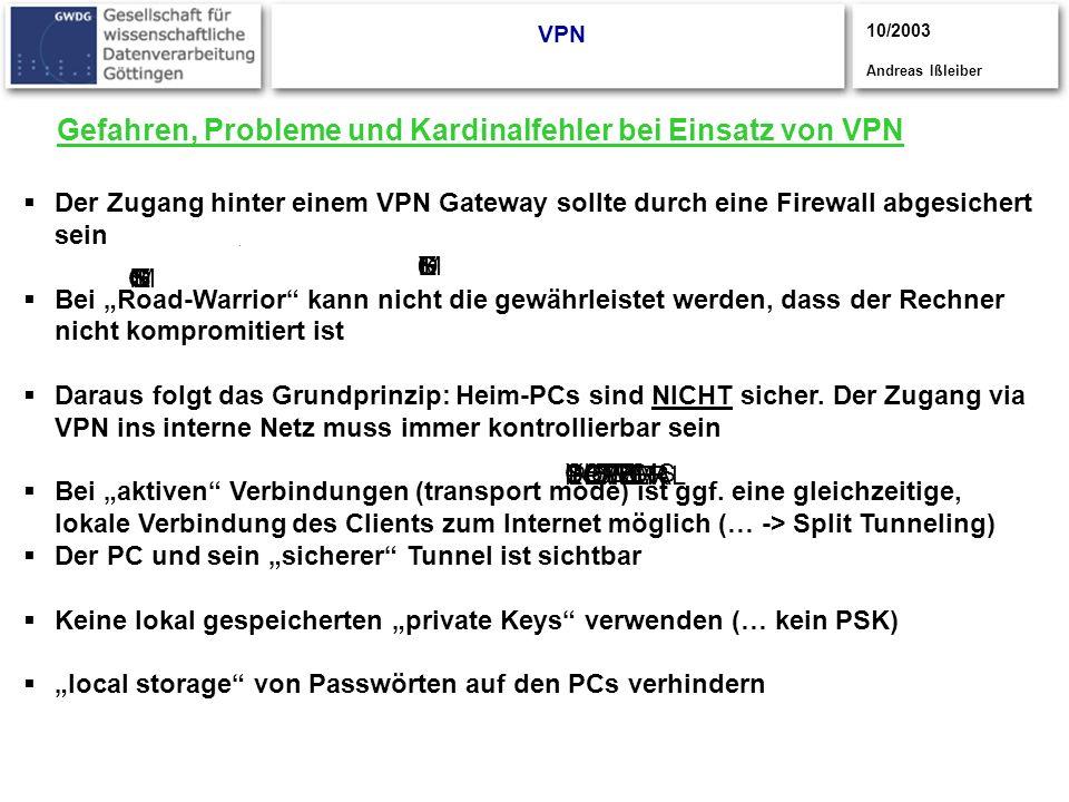 CISCO S YSTEMS CISCOYSTEMS S CISCOSYSTEMS UPPER POWER LOWER POWER NORMAL Gefahren, Probleme und Kardinalfehler bei Einsatz von VPN VPN Der Zugang hint