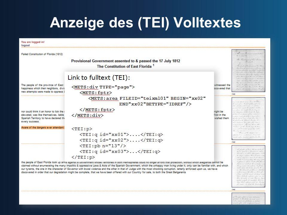 Anzeige des (TEI) Volltextes