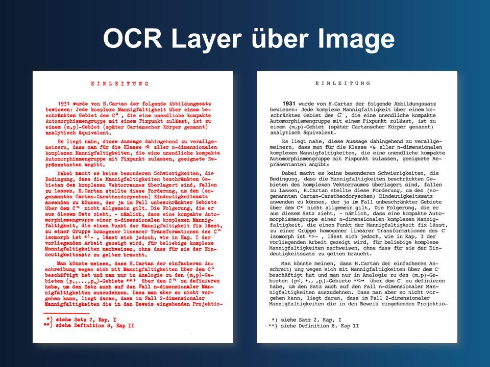 OCR Layer über Image