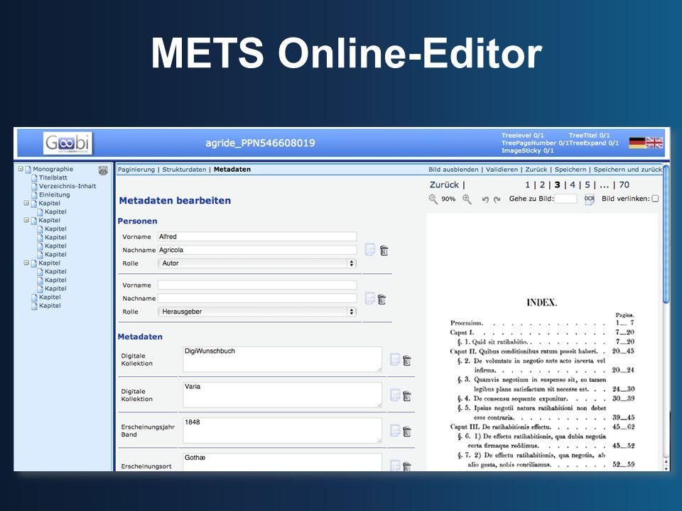 METS Online-Editor