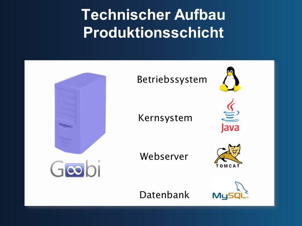 Technischer Aufbau Produktionsschicht