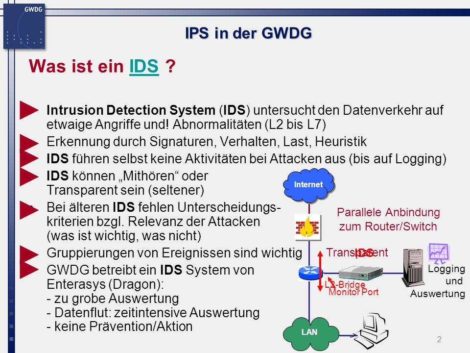 3 IPS in der GWDG Was ist ein IPS .