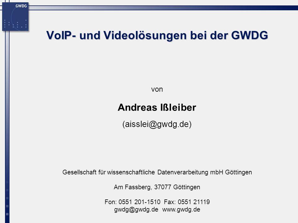 Gesellschaft für wissenschaftliche Datenverarbeitung mbH Göttingen Am Fassberg, 37077 Göttingen Fon: 0551 201-1510 Fax: 0551 21119 gwdg@gwdg.de www.gw