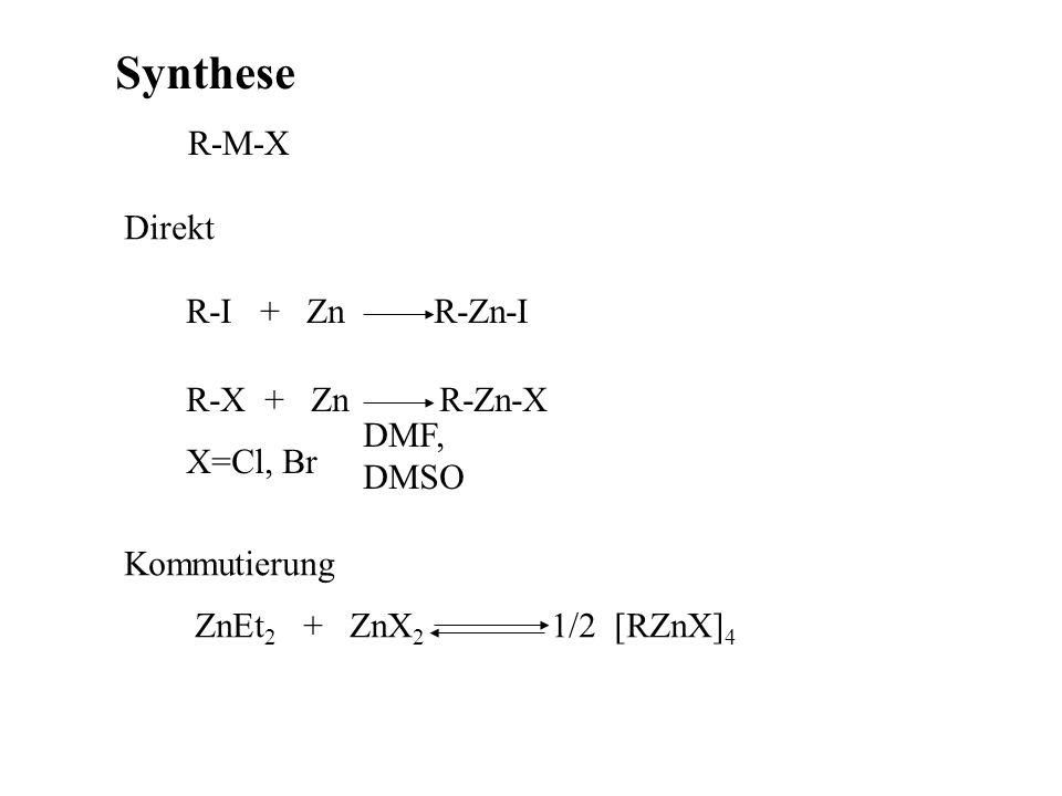 beste Methode Metathese MCl 2 + 2LiR MR 2 + 2 LiCl (AlEt 3 ) 2 + 3 Zn(OEt) 2 3 ZnEt 2 + (AlOEt 3 ) 2