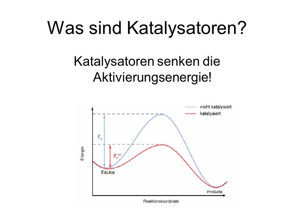 Was sind Katalysatoren? Katalysatoren senken die Aktivierungsenergie!
