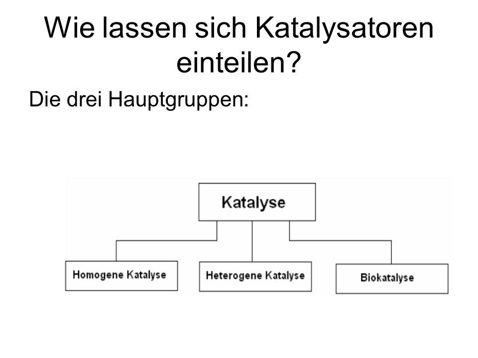 Wie lassen sich Katalysatoren einteilen? Die drei Hauptgruppen: