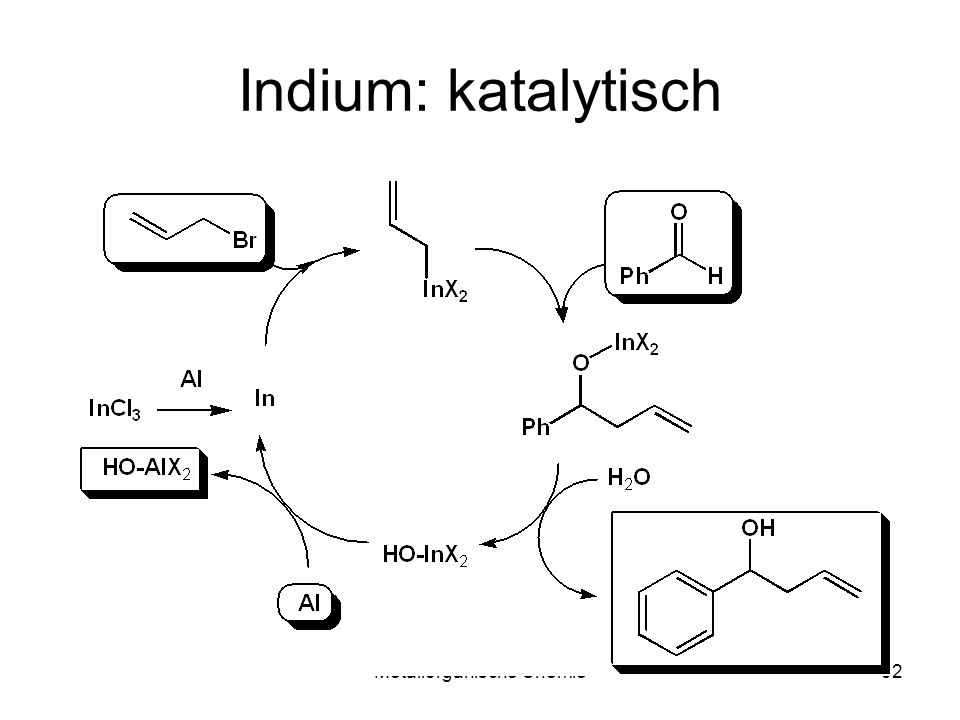 Metallorganische Chemie32 Indium: katalytisch