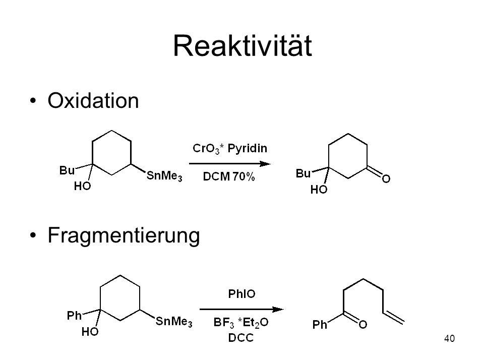 Metallorganische Chemie40 Reaktivität Oxidation Fragmentierung