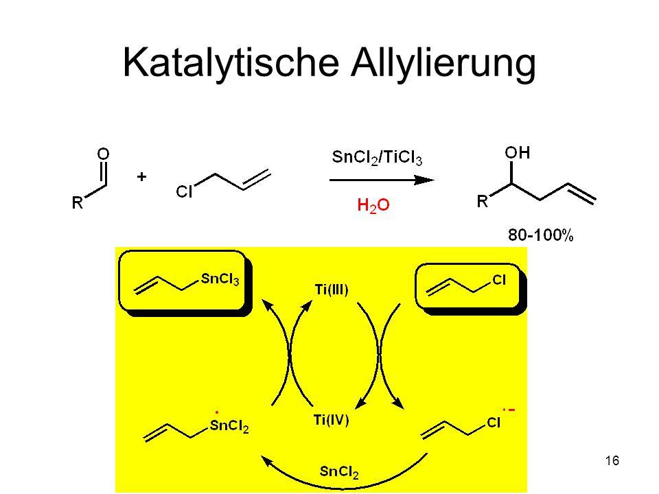 Metallorganische Chemie15 Chatgilialoglu Tris(trimethylsilyl)silan (TMS) 3 SiH 1 mol = 4000 Acc.