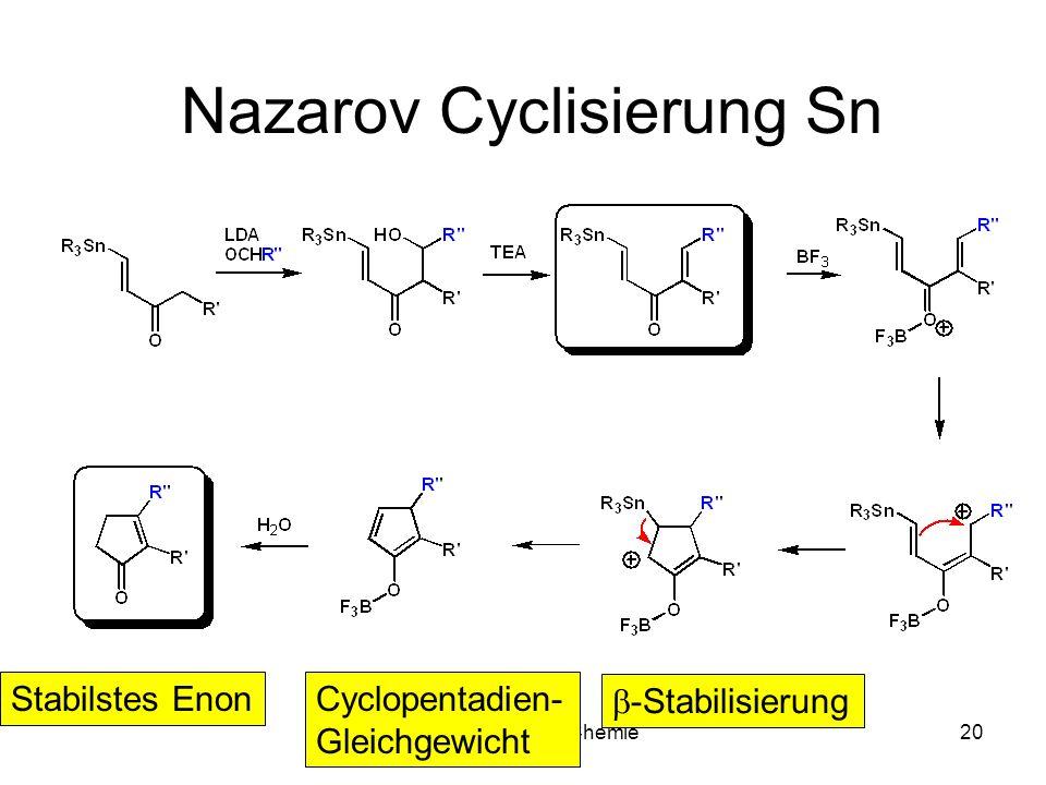 Metallorganische Chemie19 -Kation / -Anion -Kationstabilisierung durch 2 e-3Z Bindung -Anionstabilisierung durch vakante Orbitale
