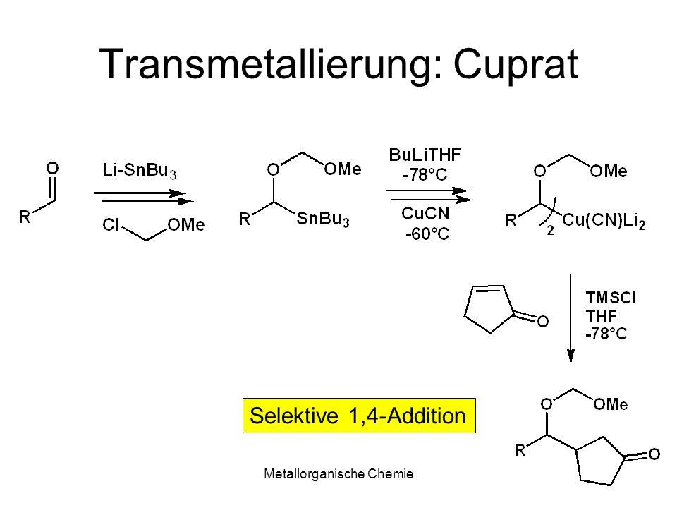 Metallorganische Chemie23 Titan Bindungsenergien Elektronegativität Ti-H205 kJ/molSi1.90 Ti-C423 kJ/molTi1.54 Ti-Cl494 kJ/mol Sn 1.96 Ti-O-672 k/mol H2.20 C2.55 =>polare Ti-C, Ti-H Bindungen oxophil