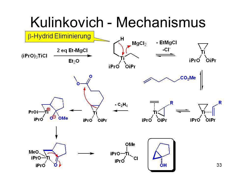 Metallorganische Chemie32 Kulinkovich Reaktion Organic Synthesis 2003, 80, 111-116 71% 80%