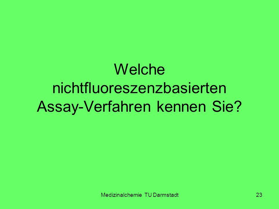 Medizinalchemie TU Darmstadt23 Welche nichtfluoreszenzbasierten Assay-Verfahren kennen Sie?