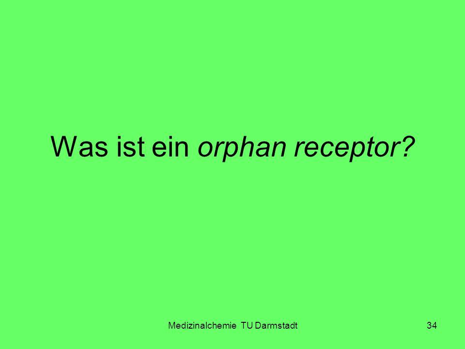 Medizinalchemie TU Darmstadt34 Was ist ein orphan receptor?