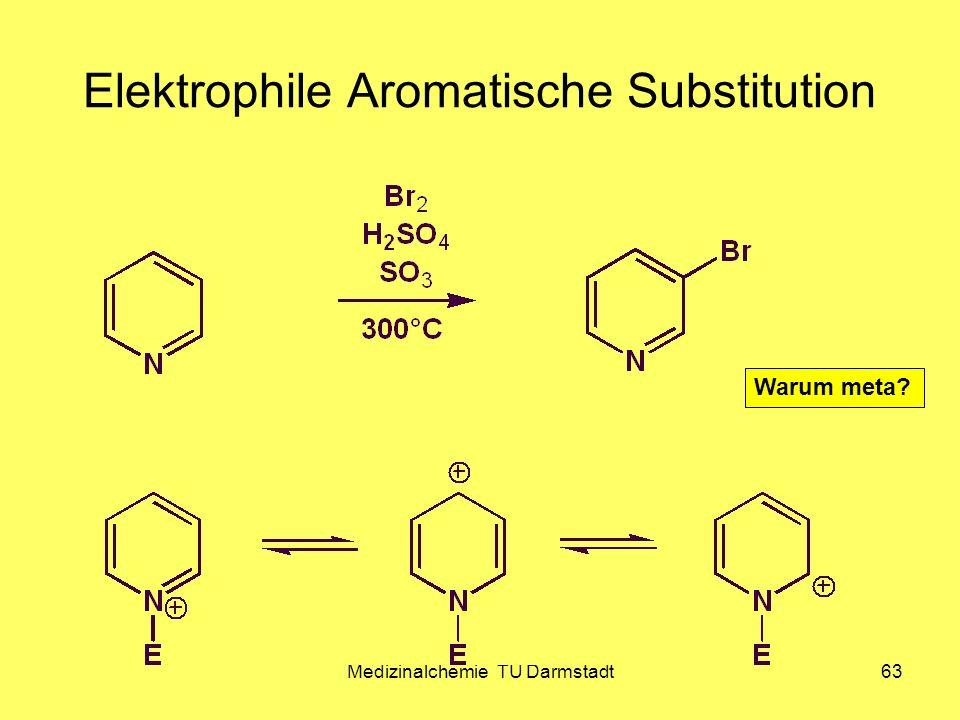 Medizinalchemie TU Darmstadt63 Elektrophile Aromatische Substitution Warum meta?