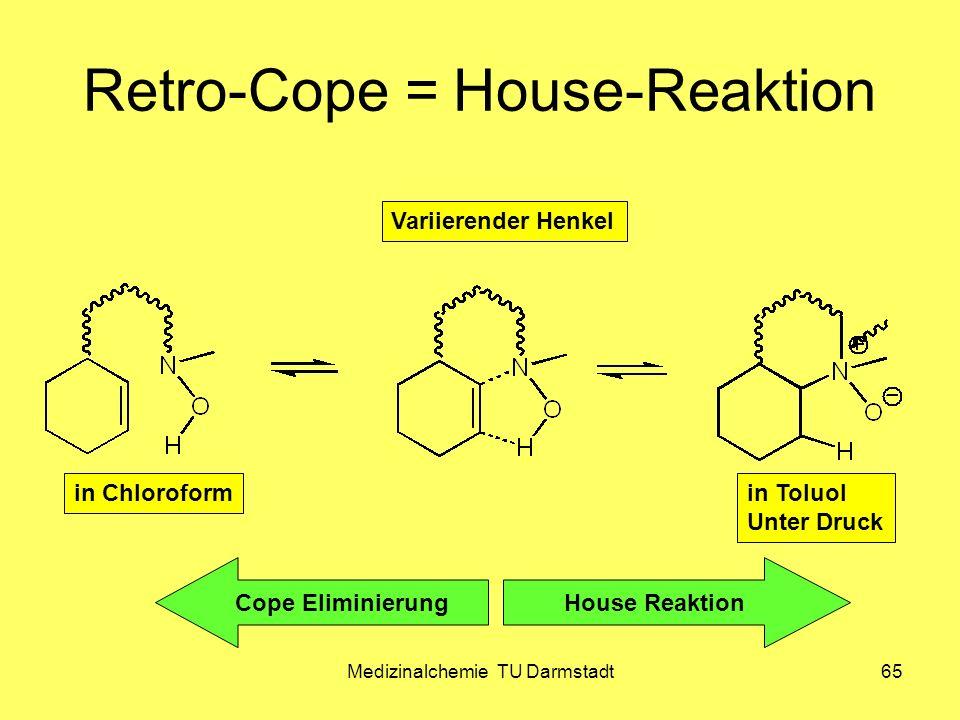 Medizinalchemie TU Darmstadt65 Retro-Cope = House-Reaktion in Chloroform House ReaktionCope Eliminierung in Toluol Unter Druck Variierender Henkel