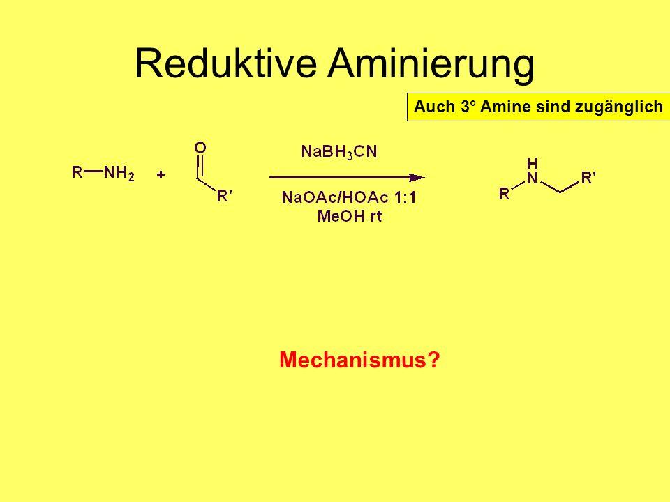 Medizinalchemie TU Darmstadt67 Reduktive Aminierung Natriumcyanoborhydrid ist selektiver als NaBH 4 Reaktivität: Iminium>Aldehyde>Ketone>Imine Auch 3°