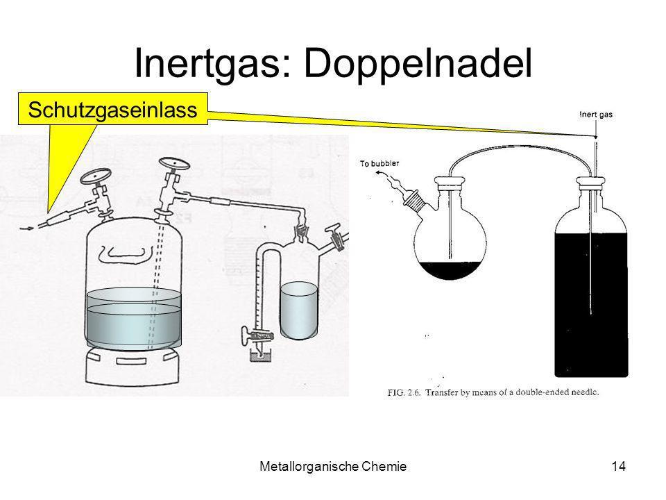 Metallorganische Chemie14 Inertgas: Doppelnadel Schutzgaseinlass