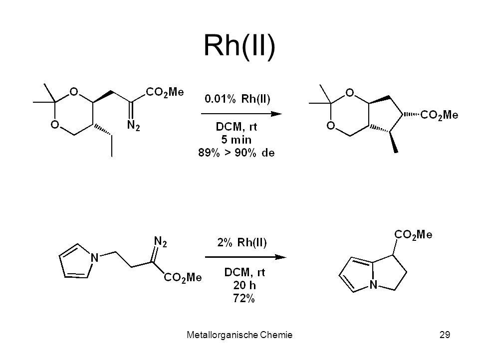 Metallorganische Chemie29 Rh(II)