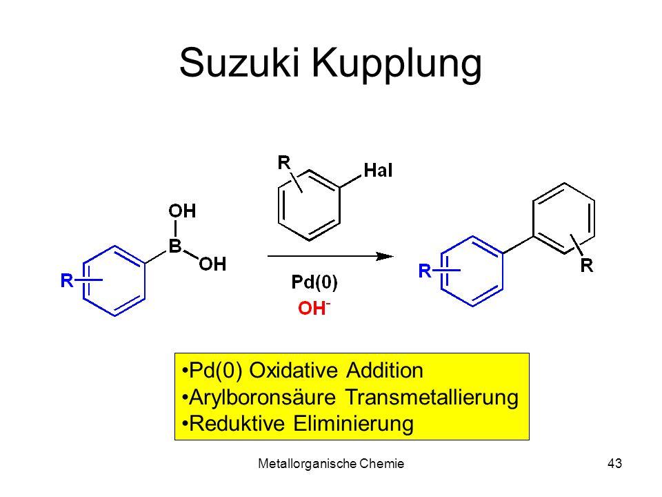 Metallorganische Chemie43 Suzuki Kupplung Pd(0) Oxidative Addition Arylboronsäure Transmetallierung Reduktive Eliminierung