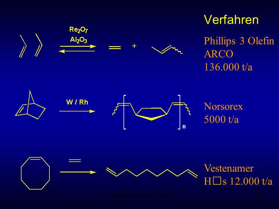 Metallorganische Chemie59 Phillips 3 Olefin ARCO 136.000 t/a Norsorex 5000 t/a Vestenamer H s 12.000 t/a Verfahren