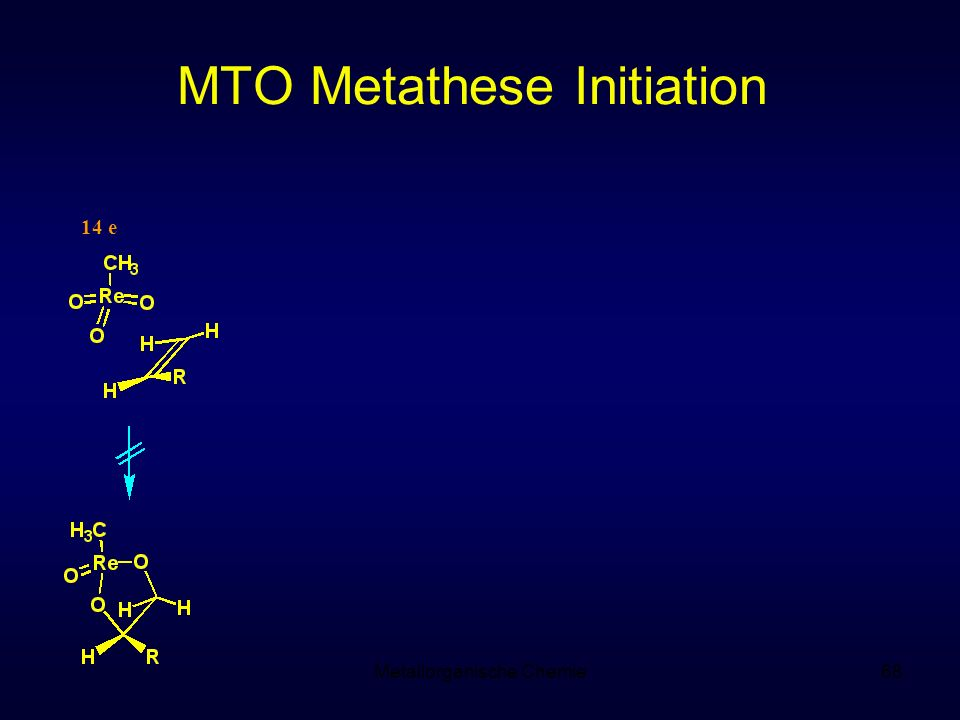 Metallorganische Chemie68 MTO Metathese Initiation 14 e