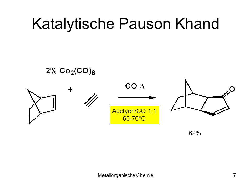 Metallorganische Chemie28 Insertion C aryl -C aryl