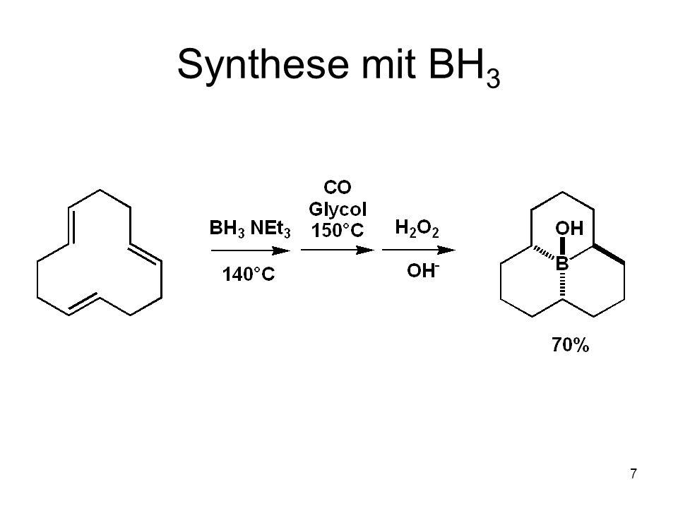 8 9-BBN Hydroborierung mit 9-BBN chemoselektiv regiospezifisch stereoselektiv