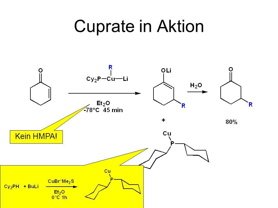 Cuprate in Aktion 17 Stufen 1 Jahr Arbeit Cu-Acetylid wird favorisiert durch: Rückbindung Azidität Löslichkeit