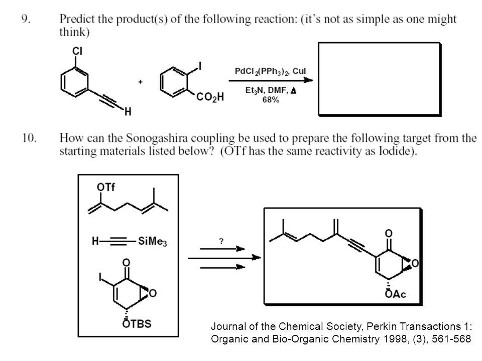 Sonogashira Kupplung Wässriges NH 3 ! A. Mori Chem. Lett. 2002, 756