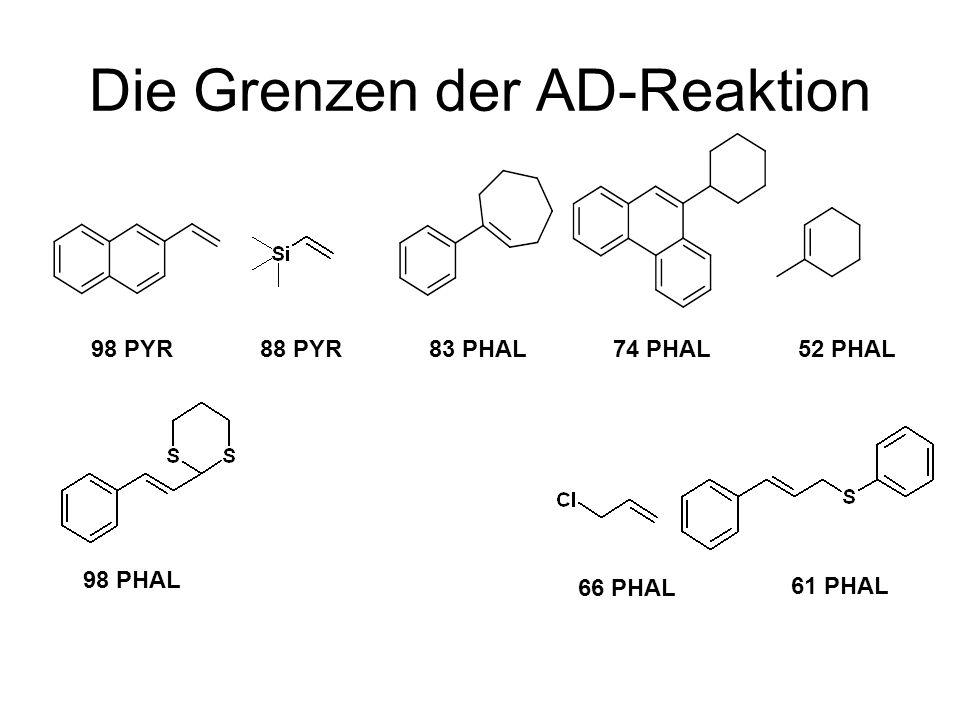Daumenregeln Ligand ee% PYR PHAL PYR PHAL INDPHAL 30-97 70-9790-99.890-9920-9720-80 Jacobsen