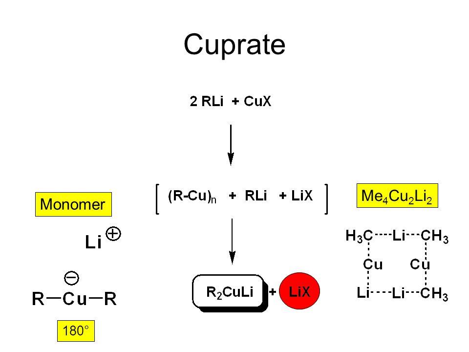 Cu – Organyle: Cuprate unlöslich in Et 2 O Zugabe von Li-Organyl zu Cu-X Inverse Zugabe Cuprate höherer Ordnung