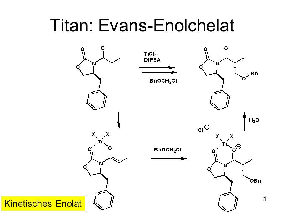 Metallorganische Chemie21 Titan: Evans-Enolchelat Kinetisches Enolat