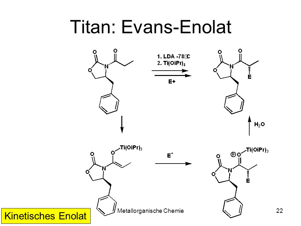 Metallorganische Chemie22 Titan: Evans-Enolat Kinetisches Enolat