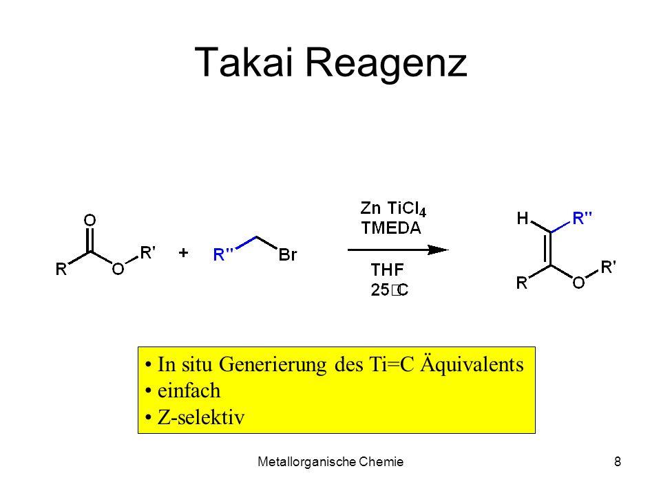 Metallorganische Chemie19 Kinetisches Enolat C=O coplanare Anordnung: keine sterische Hinderung + Aktivierungsenergie Minimum E-EnolatZ-Enolat