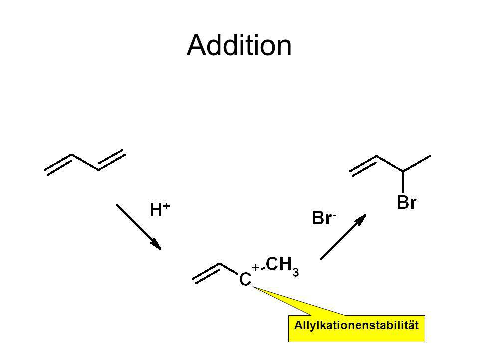 Addition Allylkationenstabilität
