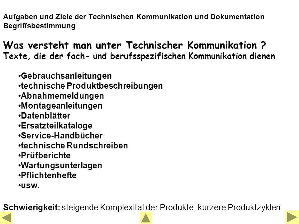 Was versteht man unter Technischer Kommunikation .