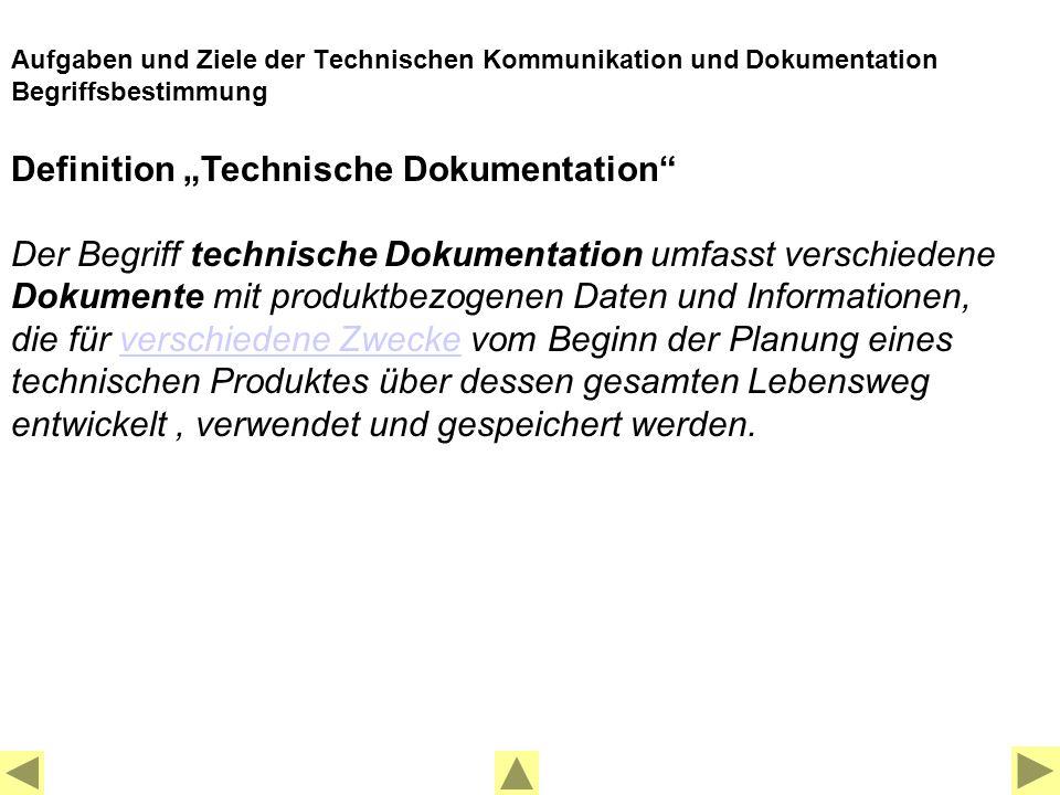 Welchen Zweck erfüllen technische Dokumentationen .