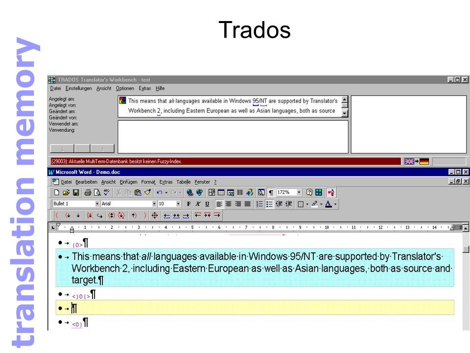 Trados translation memory