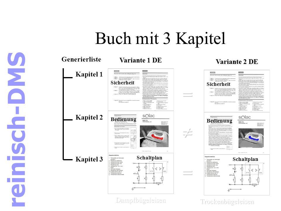 Buch mit 3 Kapitel Sicherheit Bedienung Schaltplan Generierliste Kapitel 1 Kapitel 2 Kapitel 3 Sicherheit Schaltplan Dampfbügeleisen Trockenbügeleisen