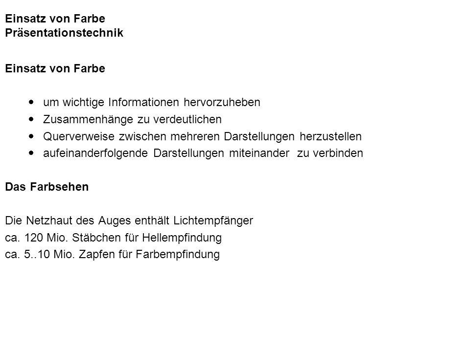 Auffassungswerte und Fernerkennbarkeit von Schrift aus Kerner/Duroy Bildsprache 2, Don Bosco Verlag München Fernerkennbarkeit von farbiger Schrift auf farbigem Grund