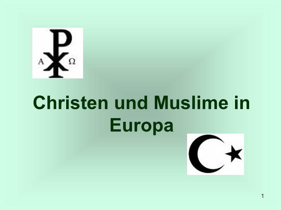 12 2 Muslime und Christen in Europa Wer sich mit Fragen des gesellschaftlichen Zusammenlebens von Muslimen und anderen EuropäerInnen beschäftigt, wird sofort auf den 11.