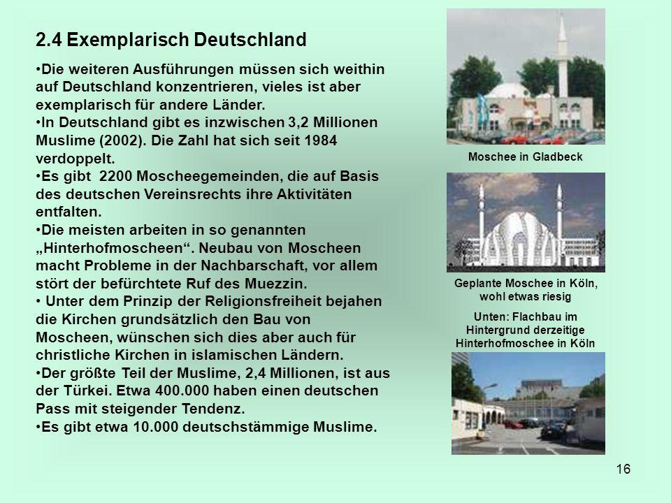 16 2.4 Exemplarisch Deutschland Die weiteren Ausführungen müssen sich weithin auf Deutschland konzentrieren, vieles ist aber exemplarisch für andere L