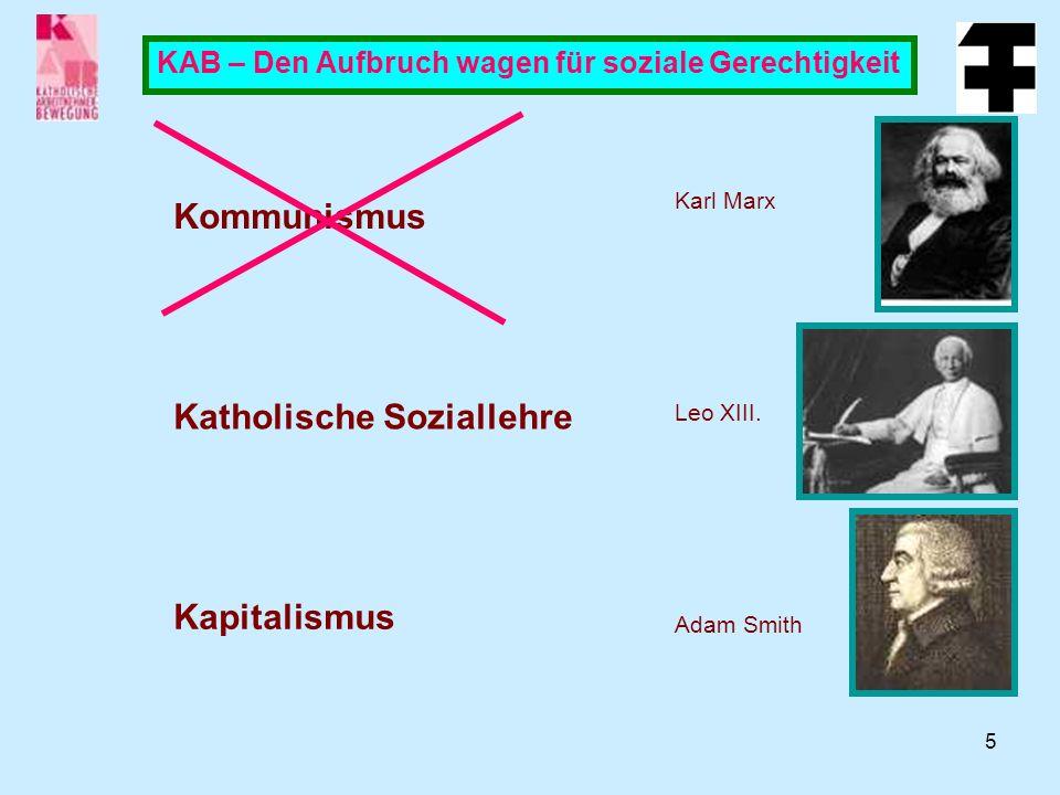 5 KAB – Den Aufbruch wagen für soziale Gerechtigkeit Kommunismus Karl Marx Leo XIII.
