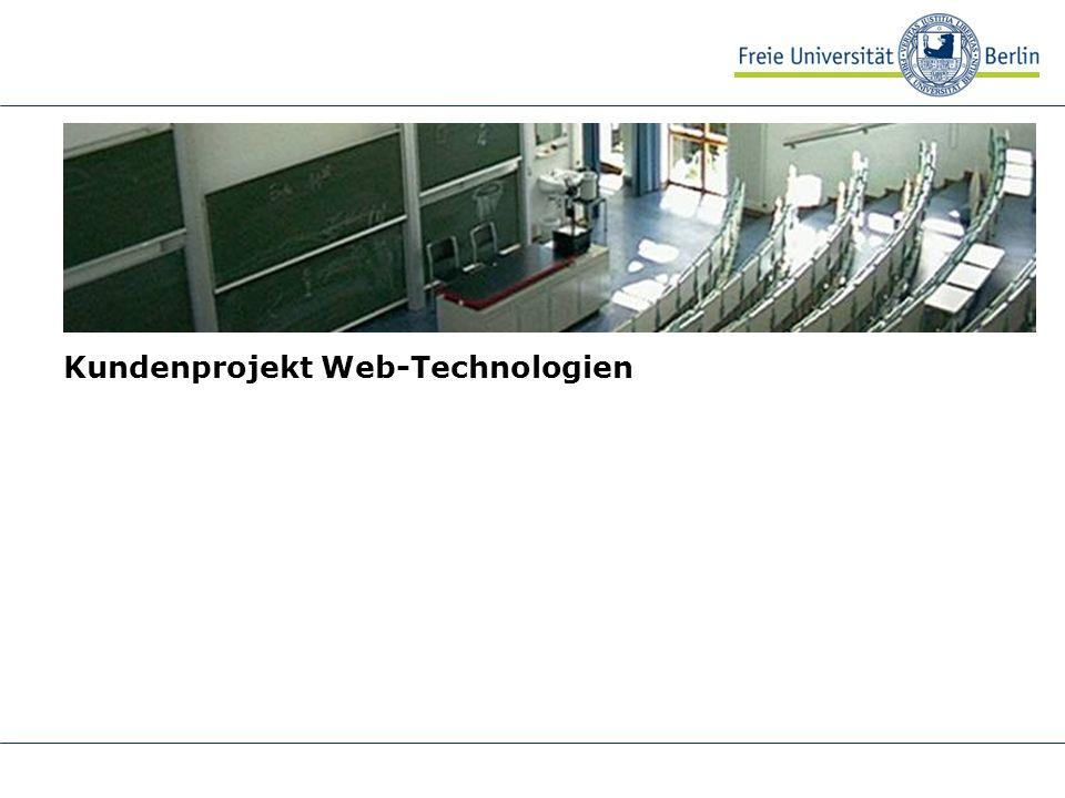 Kundenprojekt Web-Technologien