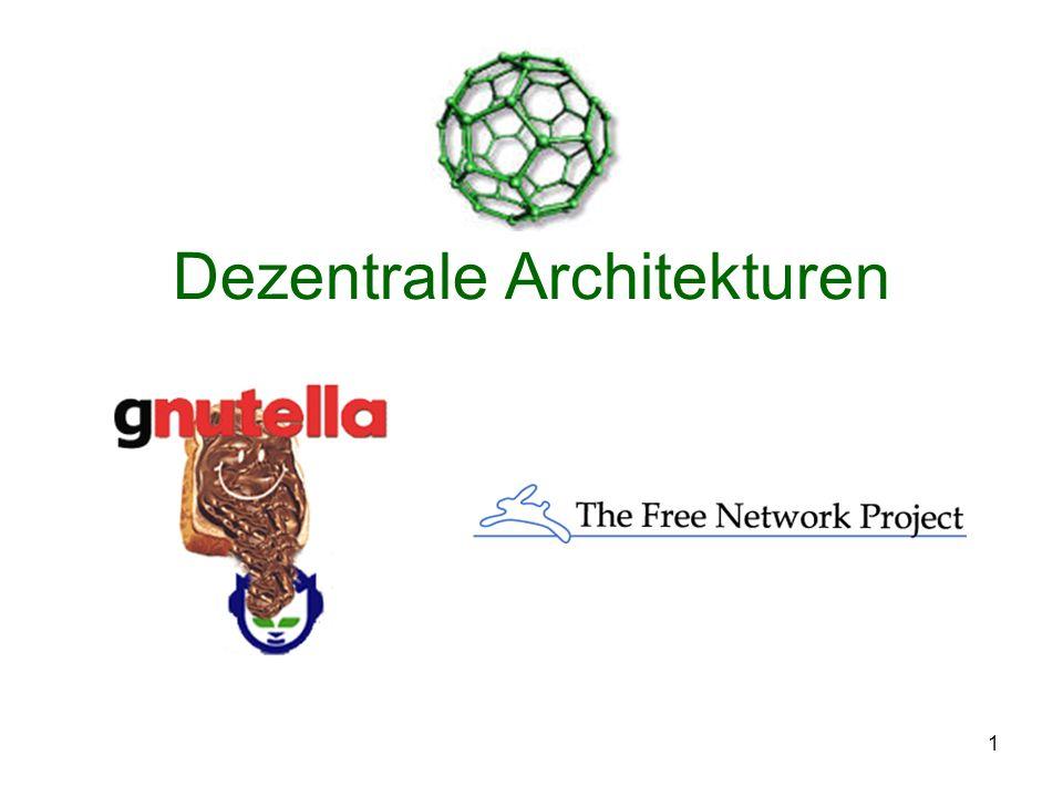 1 Dezentrale Architekturen