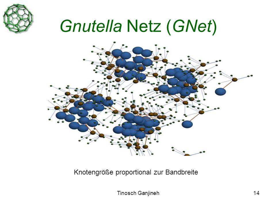 Tinosch Ganjineh14 Gnutella Netz (GNet) Knotengröße proportional zur Bandbreite